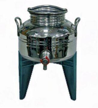 Picture of Bidone contenitore in acciaio inox per olio con supporto Sansone 5 Lt.