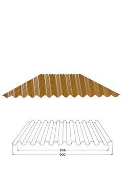 Picture of  Lamiera ondulata effetto finto legno 2 mt