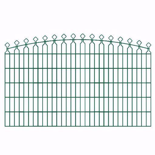 """Immagine di Pannello recinzione """"Villa corto con lance"""" Verde  L 200 cm Kit 3 PZ"""